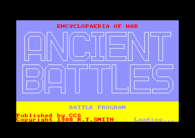 screenshot of the Amstrad CPC game Ancient battles