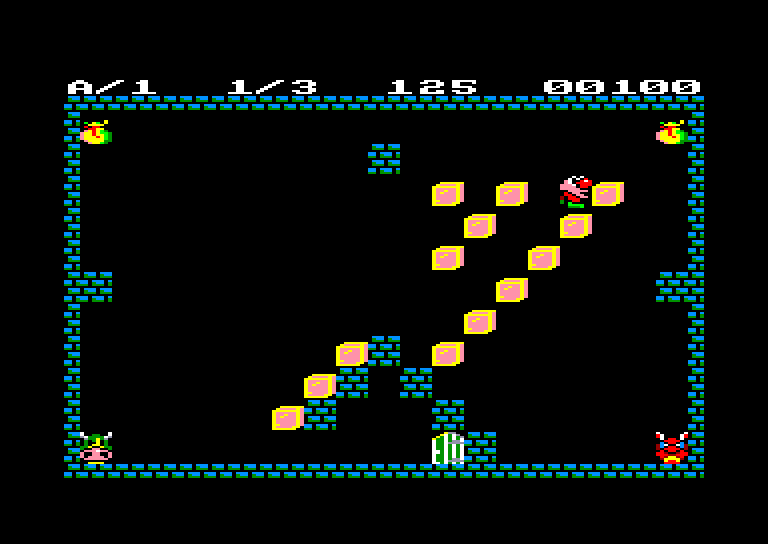 screenshot of the Amstrad CPC game Arsene lapin