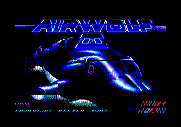 loading screenshot of the Amstrad CPC game Airwolf II