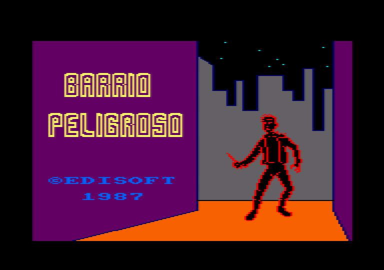 loading screen of the Amstrad CPC game Barrio Peligroso