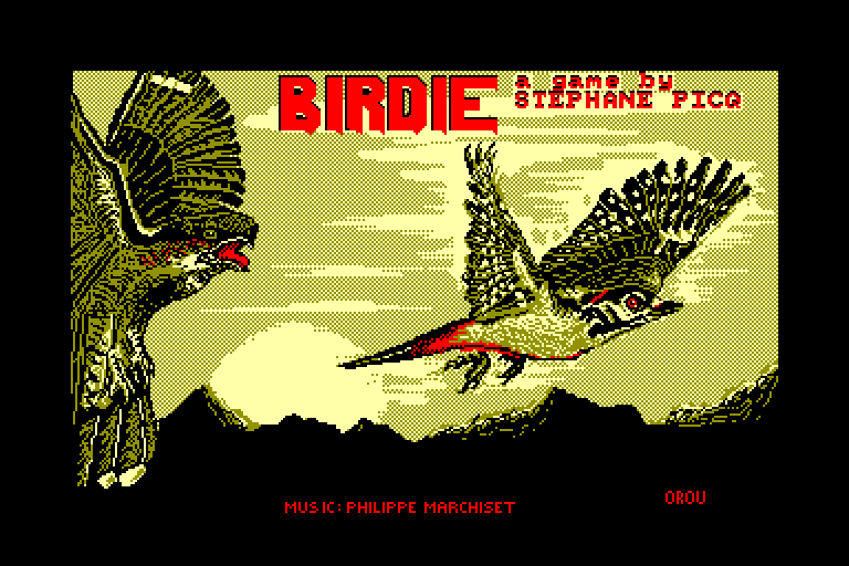loading screen of the Amstrad CPC game Birdie