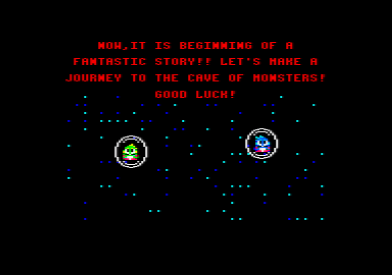 intro screenshot of the amstrad CPC game Bubble bobble 4 CPC