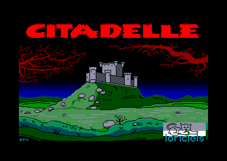 loading screenshot of the Amstrad CPC game Citadelle