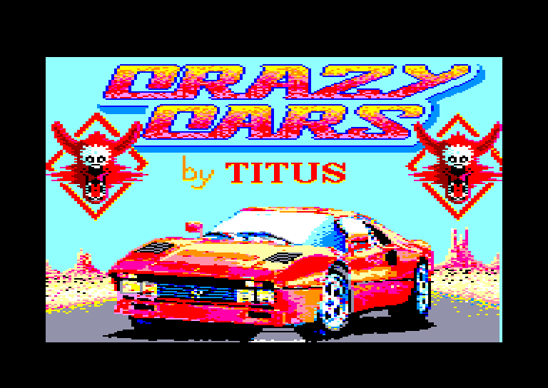 screen of the Crazy Cars amstrad cpc game
