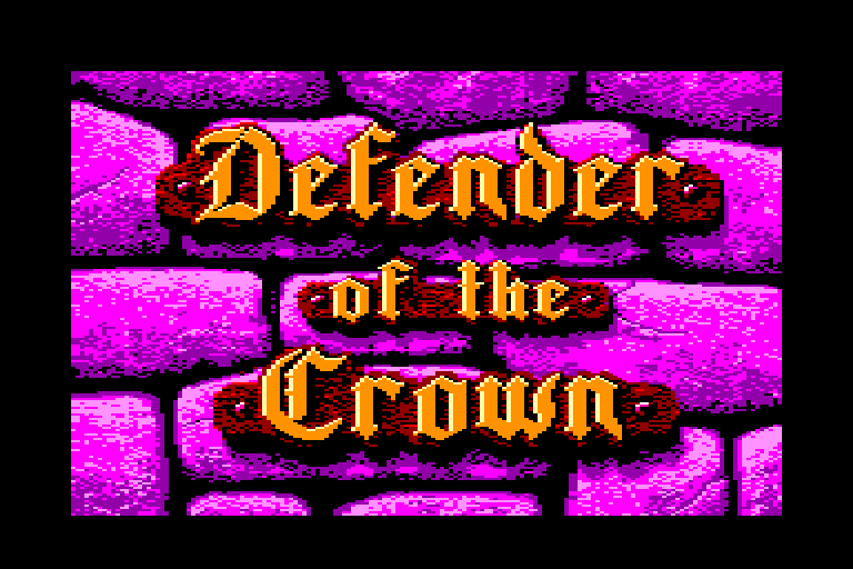 �cran de chargement du jeu Amstrad CPC Defender of the Crown
