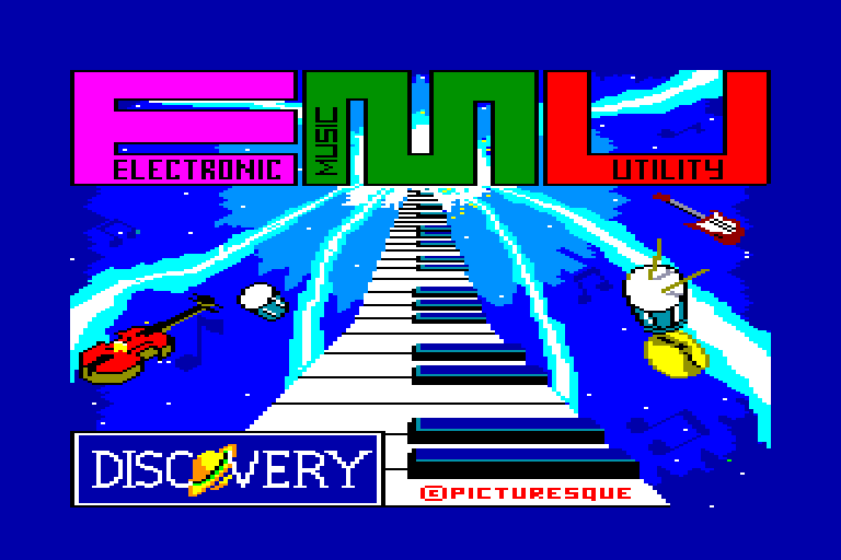 screenshot of E.M.U. - Electronic Music Utility provided by GameBase CPC