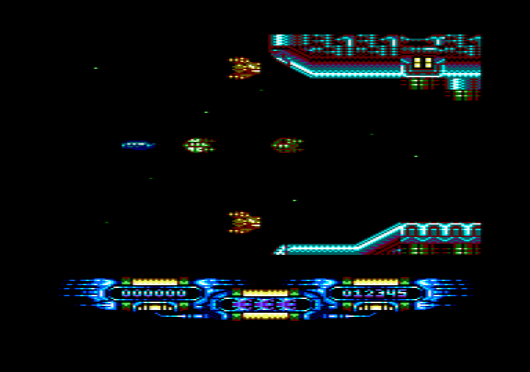 game screenshot of the Amstrad CPC game Edge Grinder