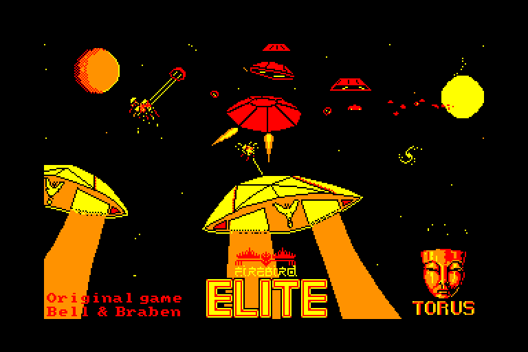loading screen of the Amstrad CPC game Elite