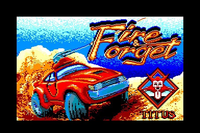�cran du Amstrad CPC Fire and Forget par Titus en 1988