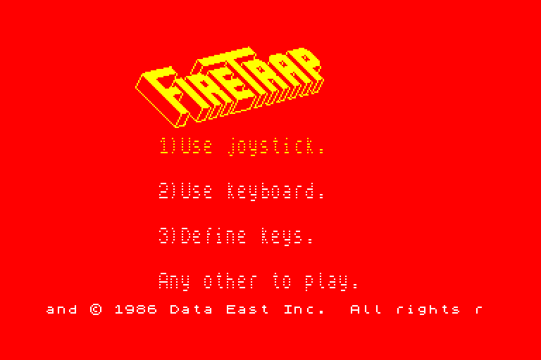 screenshot of Firetrap provided by GameBase CPC