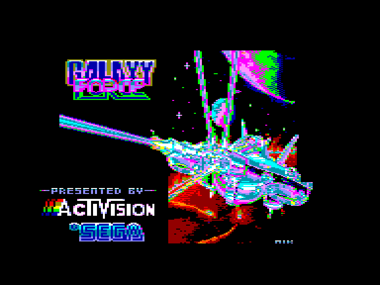 screenshot of Galaxy force Amstrad CPC game provided by GameBase CPC