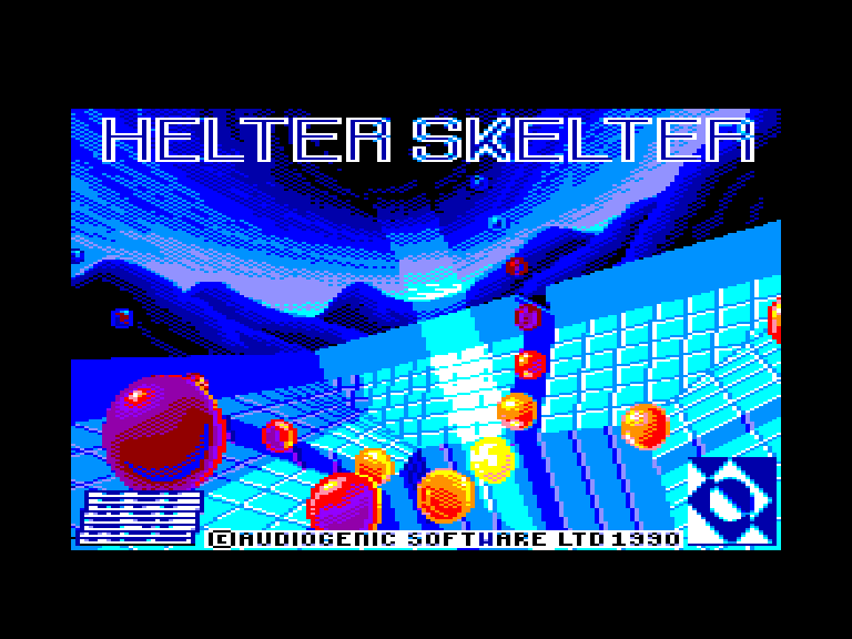 loading screen of the Amstrad CPC game Helter Skelter