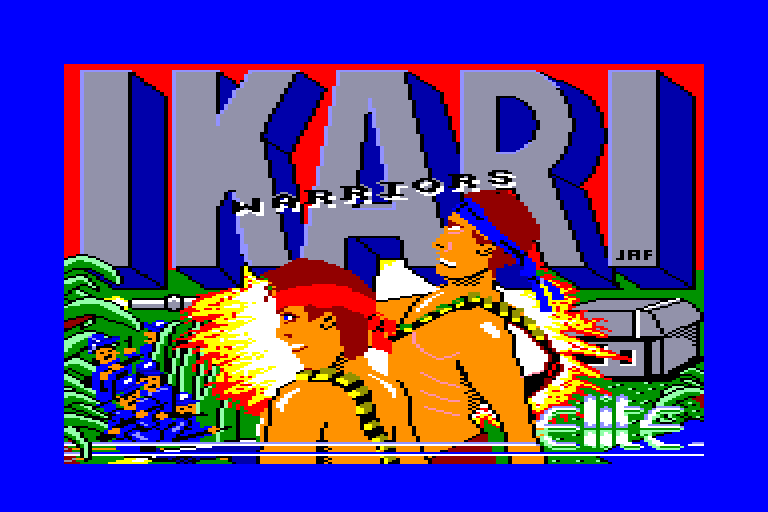 �cran de chargement d'Ikari Warriors