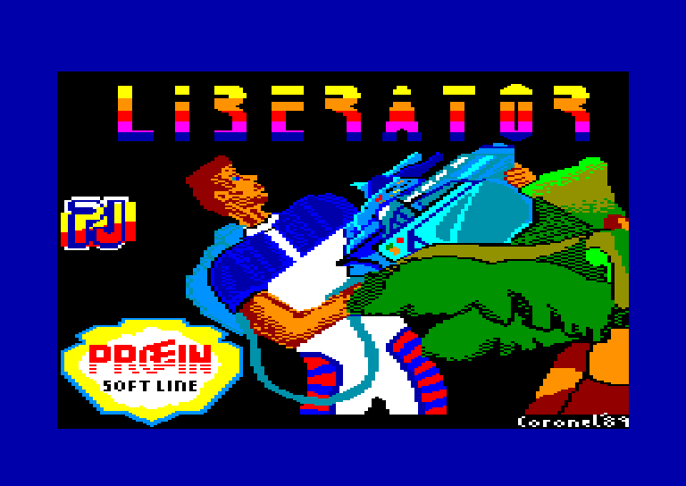 screenshot of the Amstrad CPC game Liberator