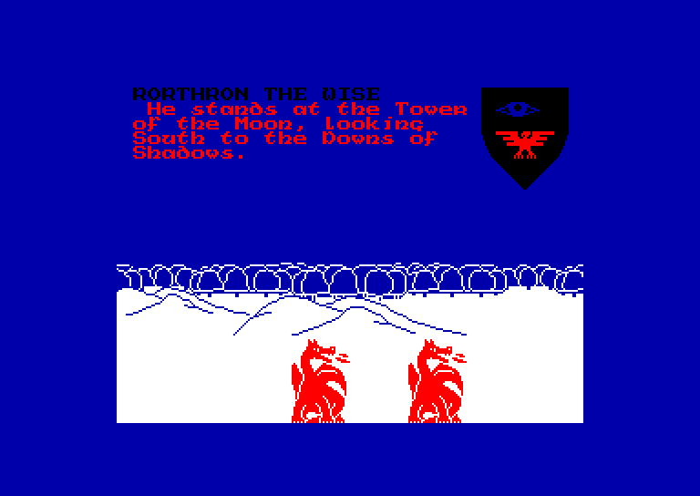 screenshot of Lords of Midnight (the) provided by GameBase CPC