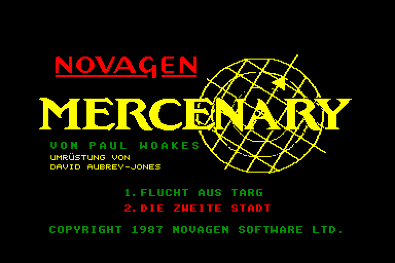 screenshot of Mercenary provided by GameBase CPC