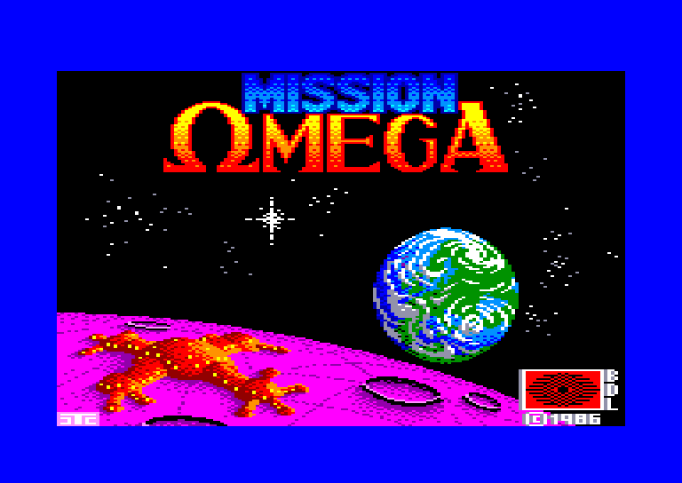 screenshot of the Amstrad CPC game Mission omega