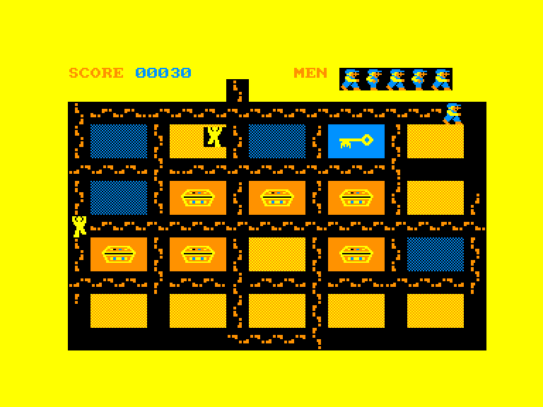 gameplay screenshot of the Amstrad CPC game Oh Mummy