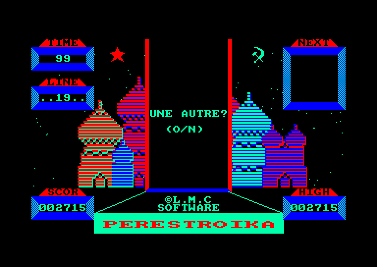 screenshot of Perestroika provided by GameBase CPC