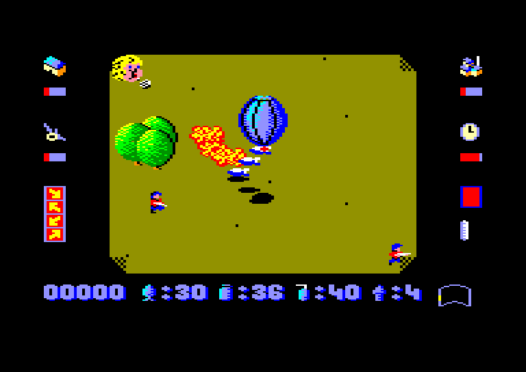 screenshot of Phileas Fogg's Balloon Battles provided by GameBase CPC