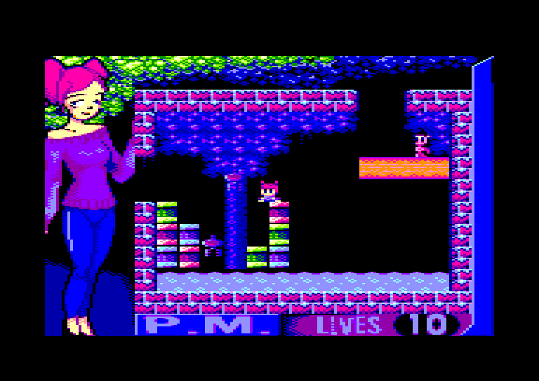 screenshot of Platformer Medley First Block provided by GameBase CPC