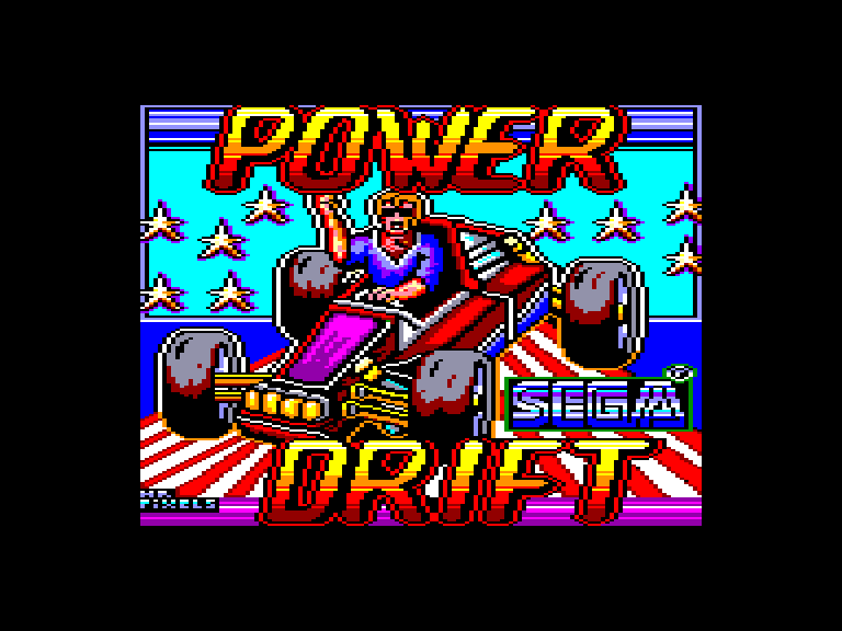 screenshot of Power drift provided by GameBase CPC