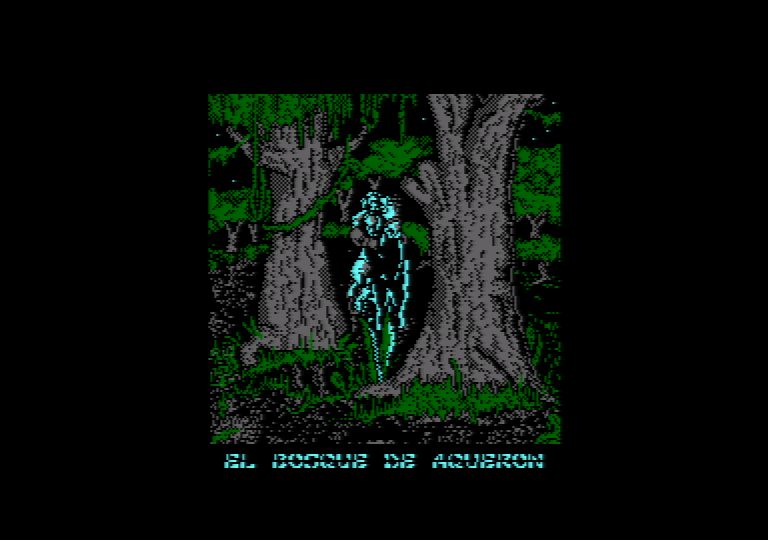 screenshot of the Amstrad CPC game the prayer of the warrior
