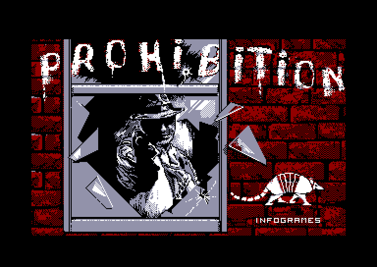 loading screen of the Amstrad CPC game Prohibition