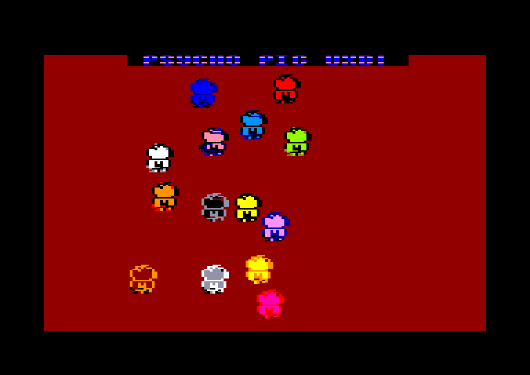 screenshot of Psycho Pigs UXB provided by GameBase CPC