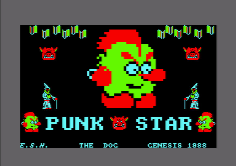 loading screen of the Amstrad CPC game Punk Star
