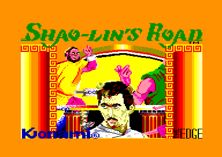 loading screen of the Amstrad CPC game Shao Lin's Road