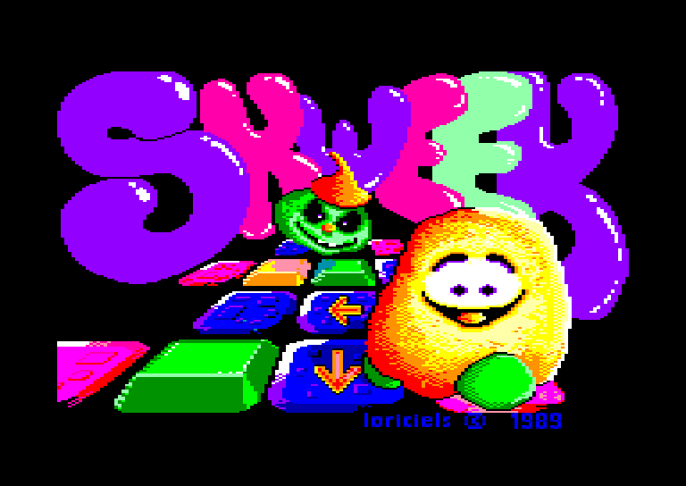 loading screen of the Amstrad CPC game Skweek