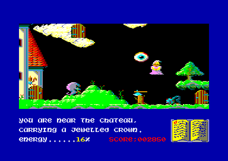 screenshot of Sorcery + provided by GameBase CPC