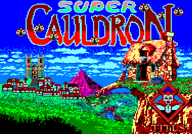 loading screen of the Amstrad CPC game Super Cauldron