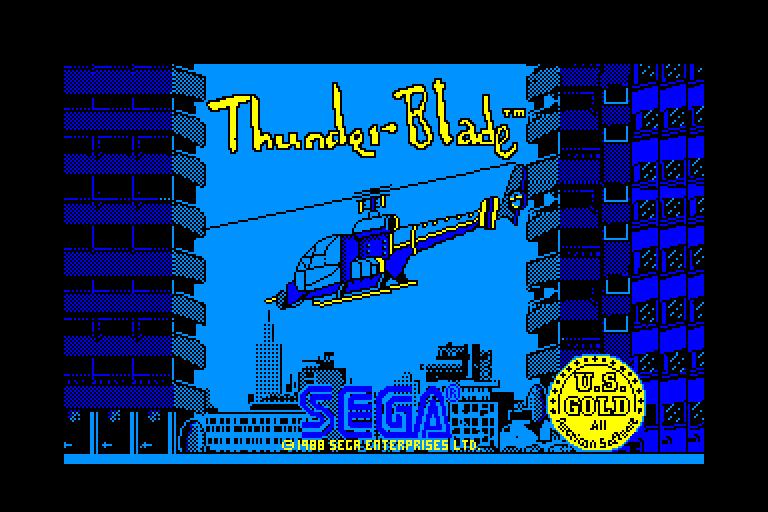 loading screen of the Amstrad CPC game Thunder Blade