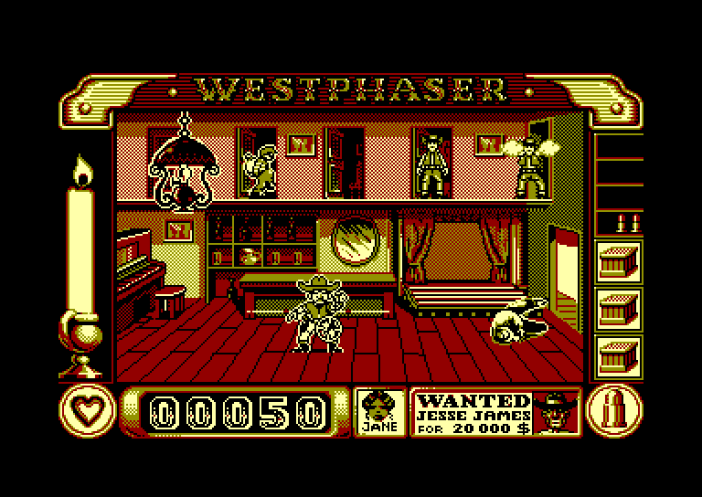 screenshot of West Phaser provided by GameBase CPC