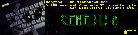 Genesis8 Amstrad Page