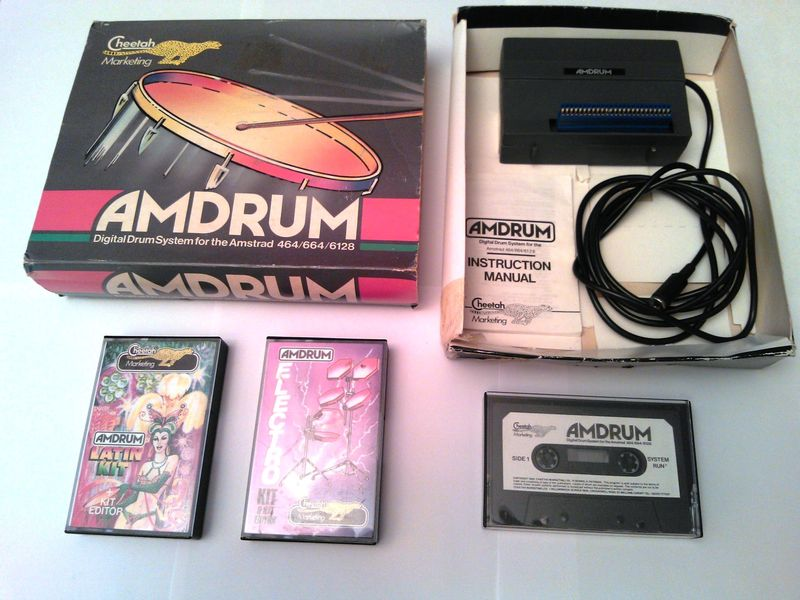 an Amstrad CPC Amdrum expansion by Cheetah, playing 8bit samples