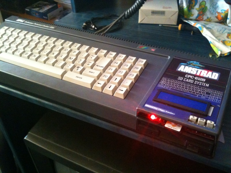 SDCard HxC floppy emulator inside an Amstrad CPC