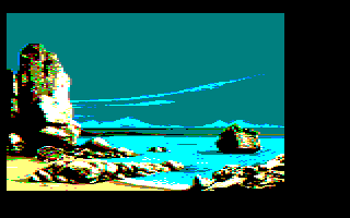3rd screenshot of a possible Maupiti island Amstrad CPC game