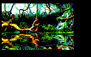 5th screenshot of a possible Maupiti island Amstrad CPC game